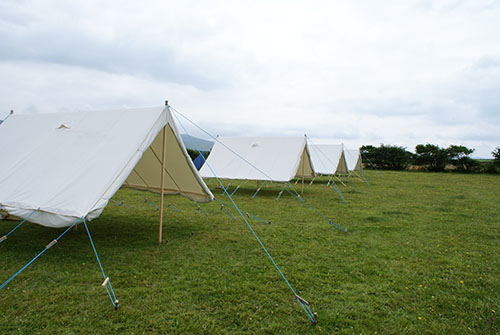 Ridge tents on sub camp